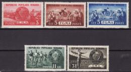 ROMANIA 1950. MNH (**), Mi 1242/46 VF - Neufs