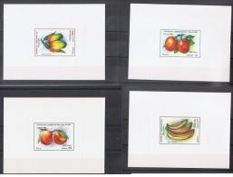 MAD 1 - MADAGASCAR N° 1053/59 - 7 épreuves De Luxe Neufs** Fruits Pommes Bananes Pêches Litchis Mangues Avocats Oranges - Madagascar (1960-...)