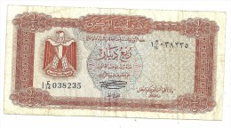 Libya 1/4 Dinar 1972 .H. - Libia