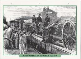 Trein.- Train - Locomotief - Locomotive. De Spoorwegen En De Oorlog Van 1870. Zie Ook Achterzijde. 2 Scans - Eisenbahnen