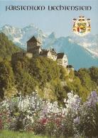 LI - Fürstentum / Principauté Liechtenstein - Schloss Vaduz, Staatswappen - Château De Vaduz, Armoiries De L'Etat - Liechtenstein