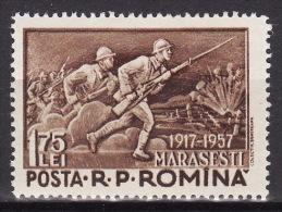 ROMANIA 1957. MNH, Mi 1664 VF - 1948-.... Républiques