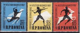 ROMANIA 1957. MNH, Mi 1666/68 VF - 1948-.... Républiques