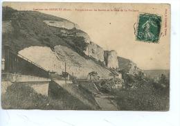 Les Andelys : Perspective Sur Les Roches & La Gare De La Vacherie - Les Andelys