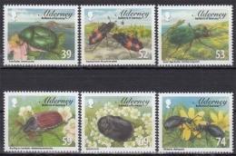 Alderney MiNr. 465/70 ** Einheimische Käfer - Alderney