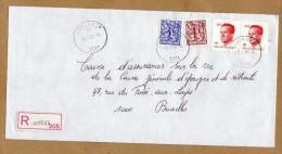 Enveloppe Cover Brief Aangetekend Registered Recommandé Luingne - Belgique