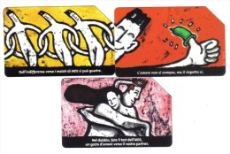 Aids 5000+10000+15000  Lire Usata Cod.schede.068 - Italy