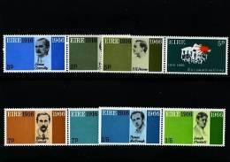 IRELAND/EIRE - 1966 EASTER RISING  (FOUR PAIRS)  SET MINT NH - 1949-... Repubblica D'Irlanda