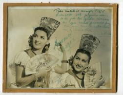 """AUTOGRAFO DÉDICACÉ AUTOGRAPHED """"HERMANAS ARAGÓN"""" FAMOUS FLAMENCO DANCERS SIGNATURE EXCLUSIVE NON CIRCULEE GECKO - Autogramme & Autographen"""