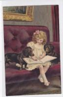 CARD BIMBA MOSTRA LIBRO A CANI BASSOTTI BASSET SAUS-SAGE DOG - FP-VSF-2- 0882- 24136 - Chiens