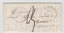 FPO051 - FRANKREICH /Mantes - Rouen 1841 (Komplett Brief Mit Text) - 1801-1848: Precursori XIX