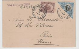 Ecu090  ECUADOR -  Quito Nach Paris. Indios Auf Ansichtskarte 1901, Sauber Frankiert. (Brief, Cover, Lettre) - Ecuador