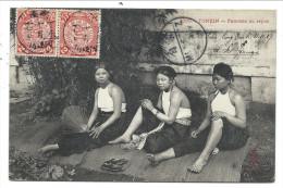 ///  CPA - Asie - Vietnam - TONKIN - Femmes au repos   //