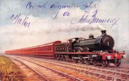 "02176 ""TRENO - CORRIDOR EXPRESS GLASGOW AND SOUTH WESTERN - SERIES VIII- PITTORE RAPHAEL TUCK "" CART. POST. SPED. 1912 - Treni"