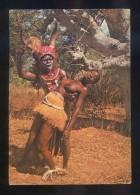 Images D'Afrique *Danse De Sorcier* Ed. Africolor Nº PC-81. Circulada 1977. Sello Desprendido. - Costa De Marfil