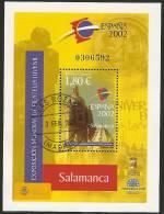 2002-ED.3878 H.B.-EXPO.MUNDIAL FILA.JUVENIL ESPAÑA´02.CARTEL-USADO - Blocs & Hojas