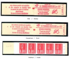 FRANCE 1976 MARIANNE DE BEQUET CARNET YT N° 1892-C2a AVEC PHOSPHO, G.MATE, NEUF, ** - 1971-76 Marianne De Béquet
