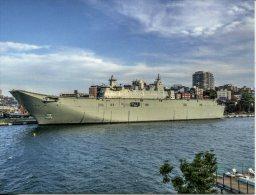Royal Australian Navy - HMAS Canberra L02 - RAN New Canberra Class Landing Helicopter Dock - Guerra