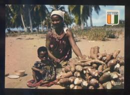 *Récolte De Manioc* Ed. Ag. Ivoirienne Hachette Nº 6453. Escrita. - Costa De Marfil