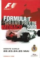 Grand Prix De Monaco 2008  -  Carte Promo  -  CPM - Grand Prix / F1