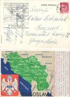 E110) FRANCIA CARTE POSTALE POUR LA YOUGOSLAVIE 23.6.1938 - Francia