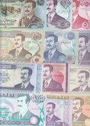 IRAQ 5 till 250 DINAR 1986 - 91 SADDAM PORTRAIT 10  DIFFERENT UNC */*