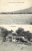 - Ref - H815 -  Haiti - Vue Sur Port Au Prince Et La Campagne -  Attelages - Carte 2 Vues - Carte Bon Etat - - Cartes Postales