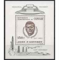 Kongo (Kinshasa) 1966 John F. Kennedy Block 8 Postfrisch (C22350) - Dem. Republik Kongo (1964-71)