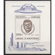 Kongo (Kinshasa) 1966 John F. Kennedy Block 9 Postfrisch (C22351) - Dem. Republik Kongo (1964-71)