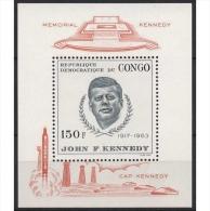 Kongo (Kinshasa) 1966 John F. Kennedy Block 10 Postfrisch (C22352) - Dem. Republik Kongo (1964-71)