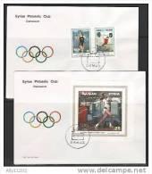 Syria, Scott Cat. #1456 A-B, 1457. Sydney Olympics Set & S/sht, FDC - Summer 2000: Sydney