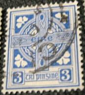 Ireland 1922 Celtic Cross 3d - Used - 1922-37 Irish Free State
