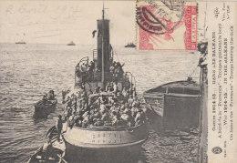 """Guerre 1914-15...dans Les Balkans à Bord De La """"provence"""" - Troupes Quittant Le Bord - Warships"""