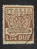 """(L)ITALIA Regno-1923- """"Marcia Su Roma"""" £. 2 US° (descrizione) - 1900-44 Vittorio Emanuele III"""