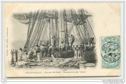 DUNKERQUE - Scènes De Bord - Manoeuvre Des Voiles - Dunkerque