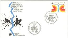 ONU - NAZIONI UNITE - UNITED NATIONS - NATIONS UNIES - 1980 - Peace Operations - Wien - FDC - FDC