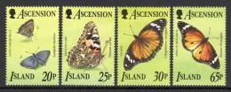 ASCENSION. 1995 BUTTERFLIES SET MNH. - Ascensión