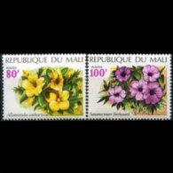 MALI 1971 - Scott# 165-6 Flowers 80-100f MNH - Mali (1959-...)