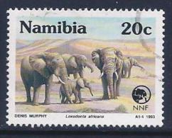 Namibia, Scott # 726 Used Endangered Animals, 1993 - Namibia (1990- ...)