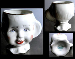 Adorable Ancienne Petite Tasse Roumaine Faite Et Peinte à La Main / Vintage Super Cute Hand Made Cup From Cluj Napoca - Ceramics & Pottery