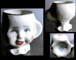 Adorable Ancienne Petite Tasse Roumaine Faite Et Peinte à La Main / Vintage Super Cute Hand Made Cup From Cluj Napoca - Art Populaire