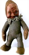 Superbe UNIQUE Ancien Lutin / Père Noel Hongrois Fin XIXème Déb XXème / Old Santa Claus Troll Doll From Hungary - Art Populaire