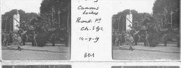 V0301 - PARIS  Fêtes De La Victoire -14.07.1919 - Canons Boches Rond-Point Des Champs Elysées - Original Rare à Saisir - Plaques De Verre