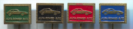 ALFA ROMEO GTZ - Car Auto, Automobile, Vintage Pin  Badge, Lot 4 Pieces - Alfa Romeo