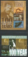 Lesotho 2005 The 100th Anniversary Of The Death Of Jules Verne, 1828-1905.France Poet.Block And Stamp.MNH - Lesotho (1966-...)