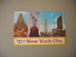 ETATS UNIS NY NEW YORK CITY GREETINGS FROM - Multi-vues, Vues Panoramiques