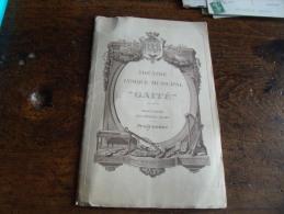 Theatre Lyrique Gaite Programme Lakme Mlle Marchal 1913 Publicite Photo Chanteur Actrice - Programme