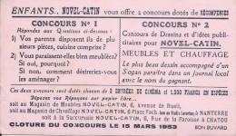 Buvard/Meubles Et Chauffage/Novel-Catin/RUEIL/NANTERRE/CHATOU/ / Seine/1953        BUV208 - Buvards, Protège-cahiers Illustrés