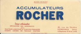 Buvard/Automobile/Accumulateurs Rocher/SURESNES/Seine/Schmitt/Belfort/Vers 1950        BUV214 - Automotive