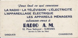 Buvard/Electro-MénagerDisques //Radio A.M./SURESNES/Seine//Vers 1950        BUV216 - Wassen En Poetsen
